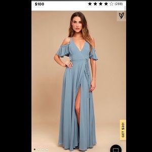 Bridesmaid full length maxi dress